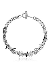 Maria Francesca Pepe | Metallic Graffiti Necklace | Lyst