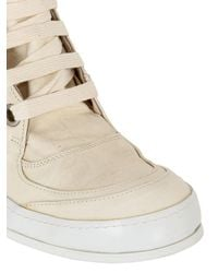 A Diciannoveventitre - White Washed Leather High Top Sneakers for Men - Lyst