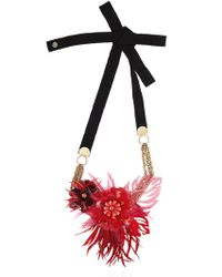 Matthew Williamson | Red Palm Perspex Necklace | Lyst