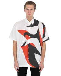 Alexander McQueen | White Printed Long Cotton Shirt for Men | Lyst