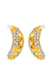 Shourouk | Yellow Banana Earrings | Lyst