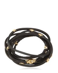 Tomasz Donocik | Yellow Gold Stars & Leather Wrap Bracelet | Lyst
