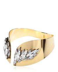 Ellen Conde - Metallic Necklace With Swarovski Crystals - Lyst