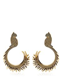 Lanvin | Metallic Squirrel Shaped Earrings | Lyst