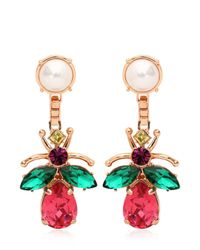 Mawi | White Love Bug Crystal Earrings | Lyst