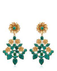 Mercantia - Metallic Lux Flower Drop Earrings - Lyst