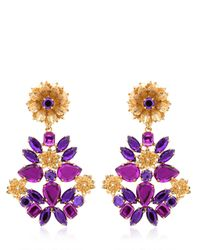 Mercantia | Metallic Lux Flower Drop Earrings | Lyst