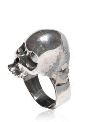 Emanuele Bicocchi | Metallic Silver Skull Ring for Men | Lyst