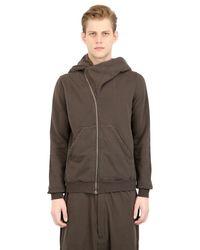 Rick Owens | Brown Drkshdw Hooded Zip-up Cotton Sweatshirt for Men | Lyst
