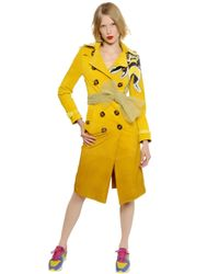 Burberry Prorsum | Yellow Gradient Suede Trench Coat W/ Bee Detail | Lyst