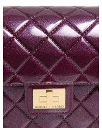 Designinverso - Purple Milano Quilted Effect Pvc Shoulder Bag - Lyst