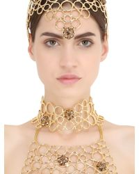 Idriss Guelai Atelier - Metallic Eleonora Body Harness With Crown - Lyst