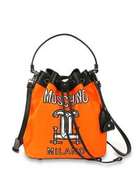 Moschino | Orange Tools Printed Bucket Bag | Lyst