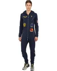OnePiece - Blue Aviator Cotton French Terry Jumpsuit - Lyst