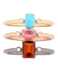Roberto Marroni - Metallic Happy Queen Color Three Band Ring - Lyst