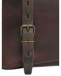 Bleu De Chauffe | Brown Justin Handmade Leather Business Bag | Lyst