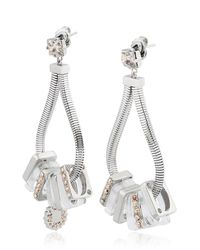 Ledaotto - Metallic Shangai Earrings - Lyst