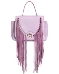 Paula Cademartori | Pink Abela Fringed Leather Shoulder Bag | Lyst