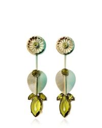 Valentina Brugnatelli | Green Alexa Olivine Earrings | Lyst