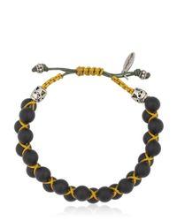 Cantini Mc Firenze | Black Bead Bracelet | Lyst