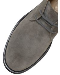 Tod's - Gray Suede Chukka Boots for Men - Lyst