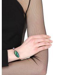 Bibi Van Der Velden | Metallic Scarab & Pearl Bangle Bracelet | Lyst