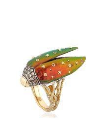 Bibi Van Der Velden   Multicolor Fly Open Scarab Wings Ring   Lyst