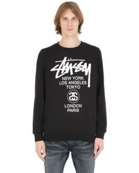Stussy | Black Tussy Hoodie With World Tour Back Print for Men | Lyst