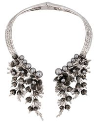 Schield - Metallic Cyborg Flowers Necklace - Lyst