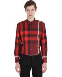 Burberry Brit   Red Macro Check Shirting Cotton Shirt for Men   Lyst