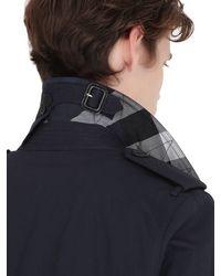 Burberry Brit - Blue Cotton Gabardine Trench Coat for Men - Lyst