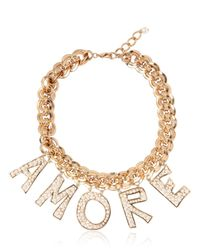 Dolce & Gabbana | Metallic Amore Necklace | Lyst