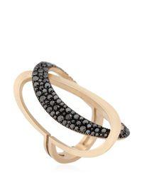 Antonini | Black & White Ring | Lyst