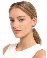 Delfina Delettrez - Blue Eye & Pearl Mono Earring - Lyst