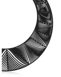 Vojd Studios | Black Chevron Giant Torque Necklace | Lyst