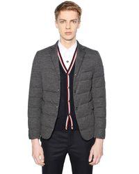 Moncler Gamme Bleu - Gray Wool Down Jacket for Men - Lyst