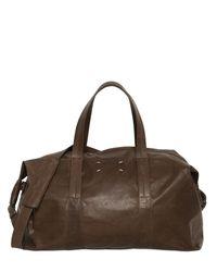 Maison Margiela - Brown Soft Leather Sailor Duffle Bag for Men - Lyst