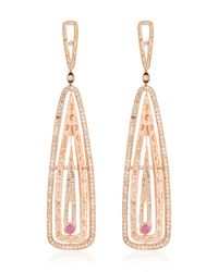 Marco Dal Maso | Pink Amaia Rose Gold Earrings | Lyst
