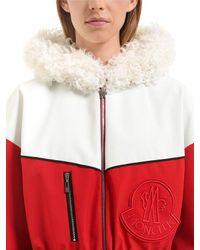 Moncler Gamme Rouge | Red Jiya Kown Hooded Nylon Coat | Lyst