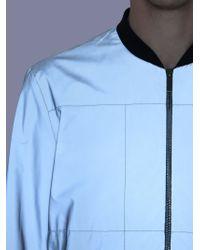 Christopher Kane - Gray Reflective Bomber Jacket for Men - Lyst