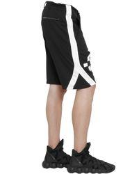 Y-3 - Black Logo Detail Cotton Jogging Shorts for Men - Lyst