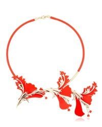 EK Thongprasert | Metallic Silicone Flower Necklace | Lyst