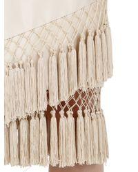Cameo - White Break Free Tassel Skirt - Lyst