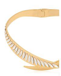 Ellen Conde | Metallic Crossover Swarovski Necklace | Lyst
