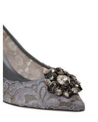 Dolce & Gabbana - Gray Bellucci Lace 60mm Pumps - Lyst