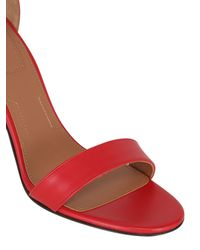 Givenchy - Red 100mm Retra Leather Sandals - Lyst