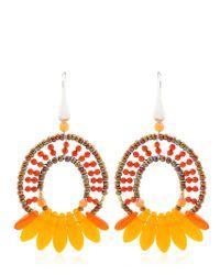 Ziio   Orange Mistinguett Beaded Earrings   Lyst