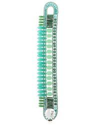 Ziio | Green Mistinguett Beaded Bracelet | Lyst