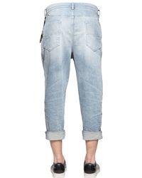 DIESEL - Blue 18cm Carrot Stretch Denim Chino Jeans for Men - Lyst