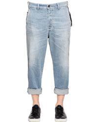 DIESEL | Blue 18cm Carrot Stretch Denim Chino Jeans for Men | Lyst